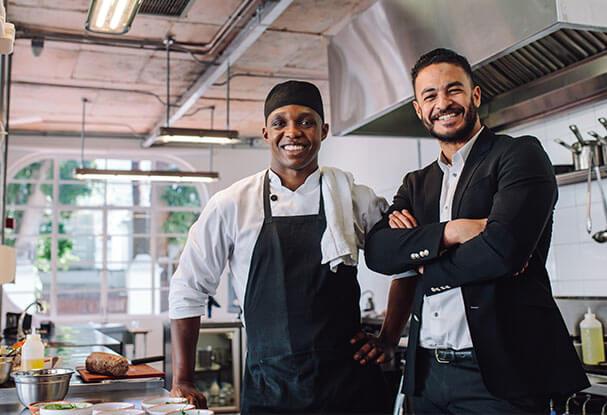 restaurant funding happy people